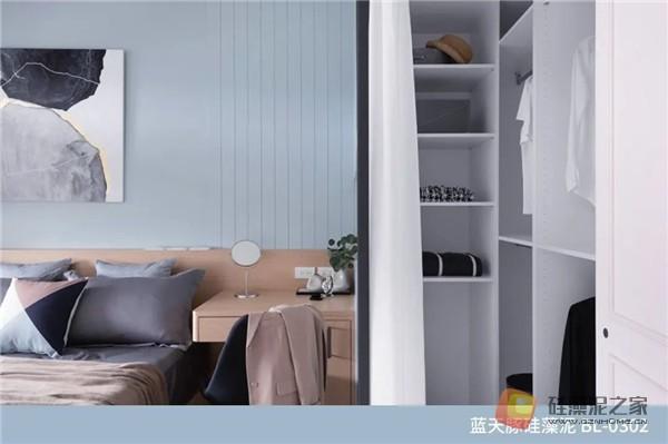 蓝天豚硅藻泥装修案例效果图:温馨、舒适、具有品质感的家居设计(图7)