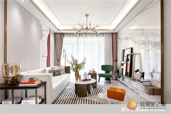 蓝天豚硅藻泥装修案例效果图:温馨、舒适、具有品质感的家居设计(图8)