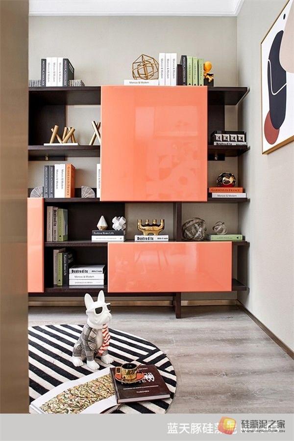 蓝天豚硅藻泥装修案例效果图:温馨、舒适、具有品质感的家居设计(图9)