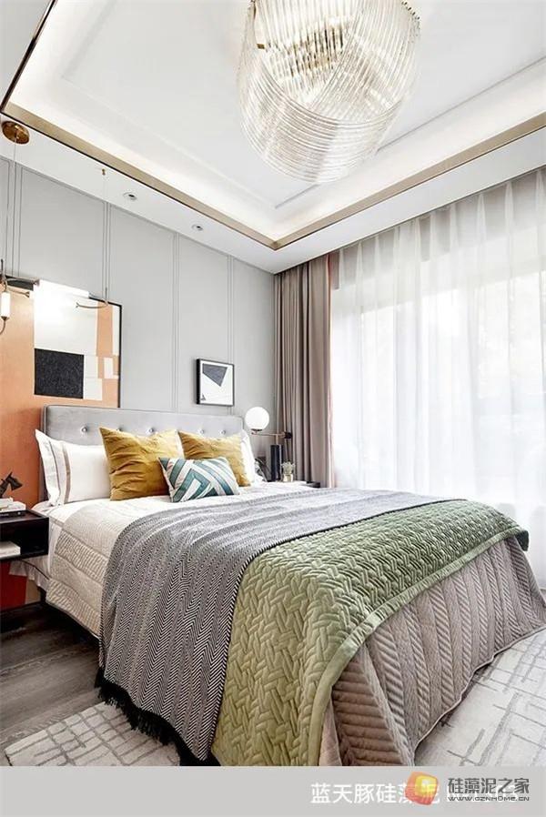 蓝天豚硅藻泥装修案例效果图:温馨、舒适、具有品质感的家居设计(图10)