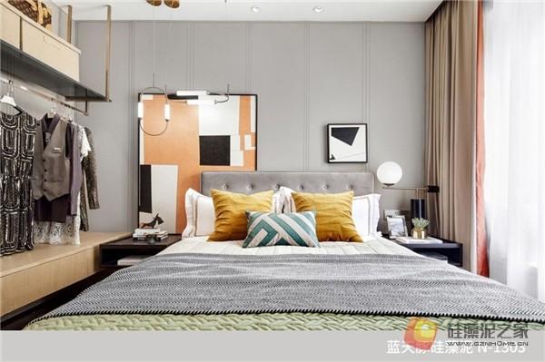 蓝天豚硅藻泥装修案例效果图:温馨、舒适、具有品质感的家居设计(图11)