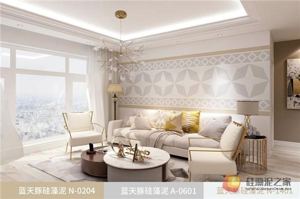 蓝天豚硅藻泥装修案例效果图:温馨、舒适、具有品质感的家居设计(图12)